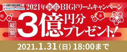 2021年新春BIGドリームキャンペーン 総額3億円分プレゼント!